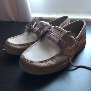 Sperry: Pink & White Sparkle